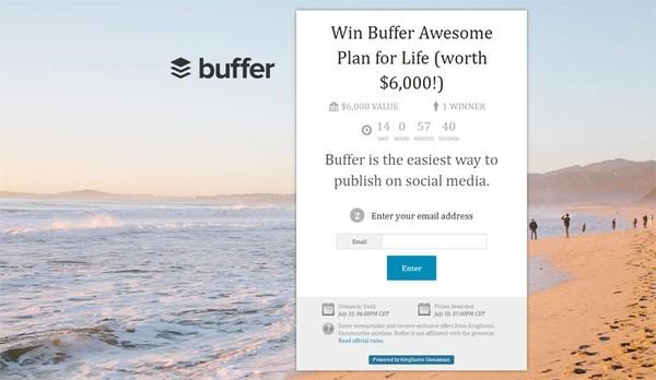 kingsumo software marketing per aumentare la tua lista contatti dando un premio